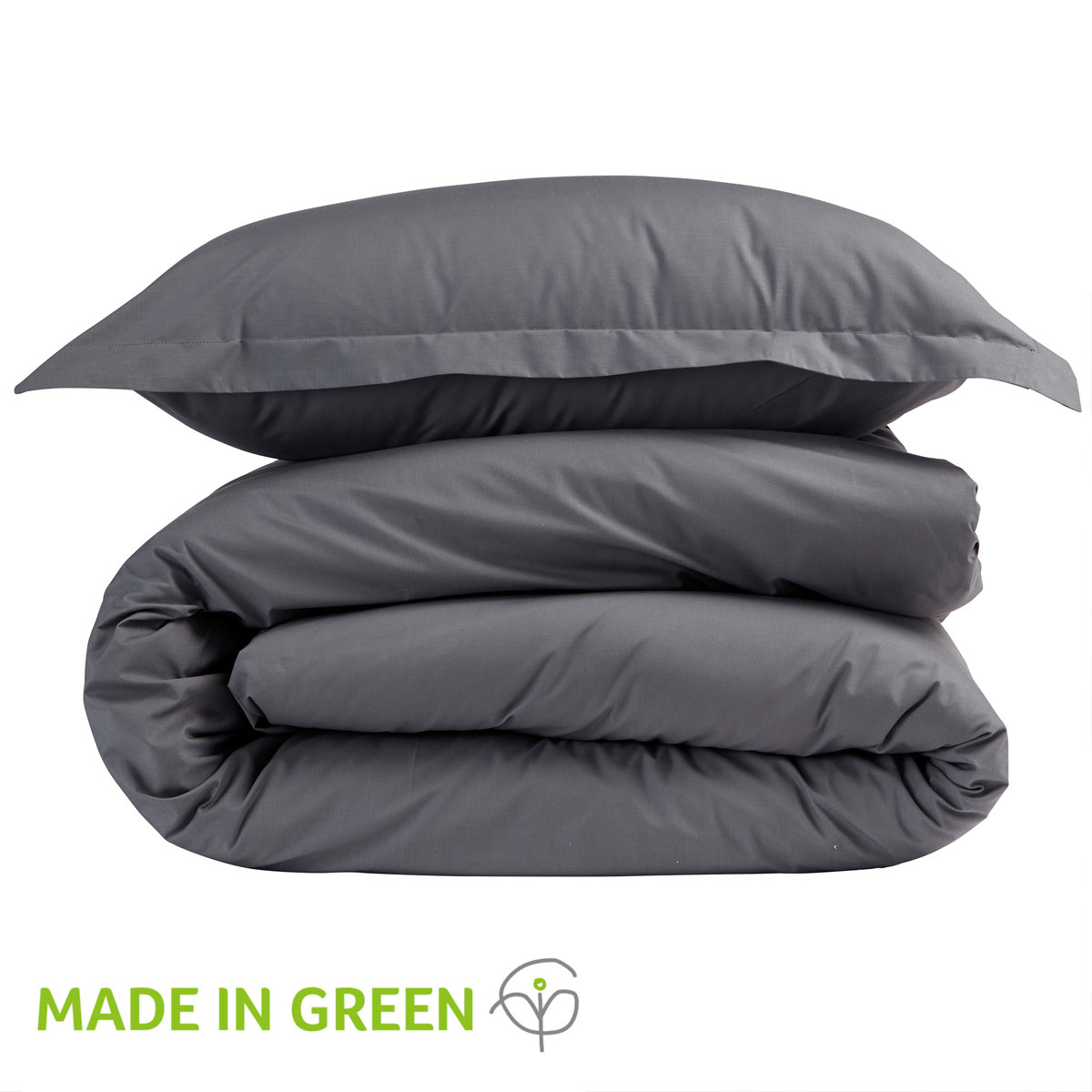 An image of 200 Easycare Double Fitted Sheet Charcoal
