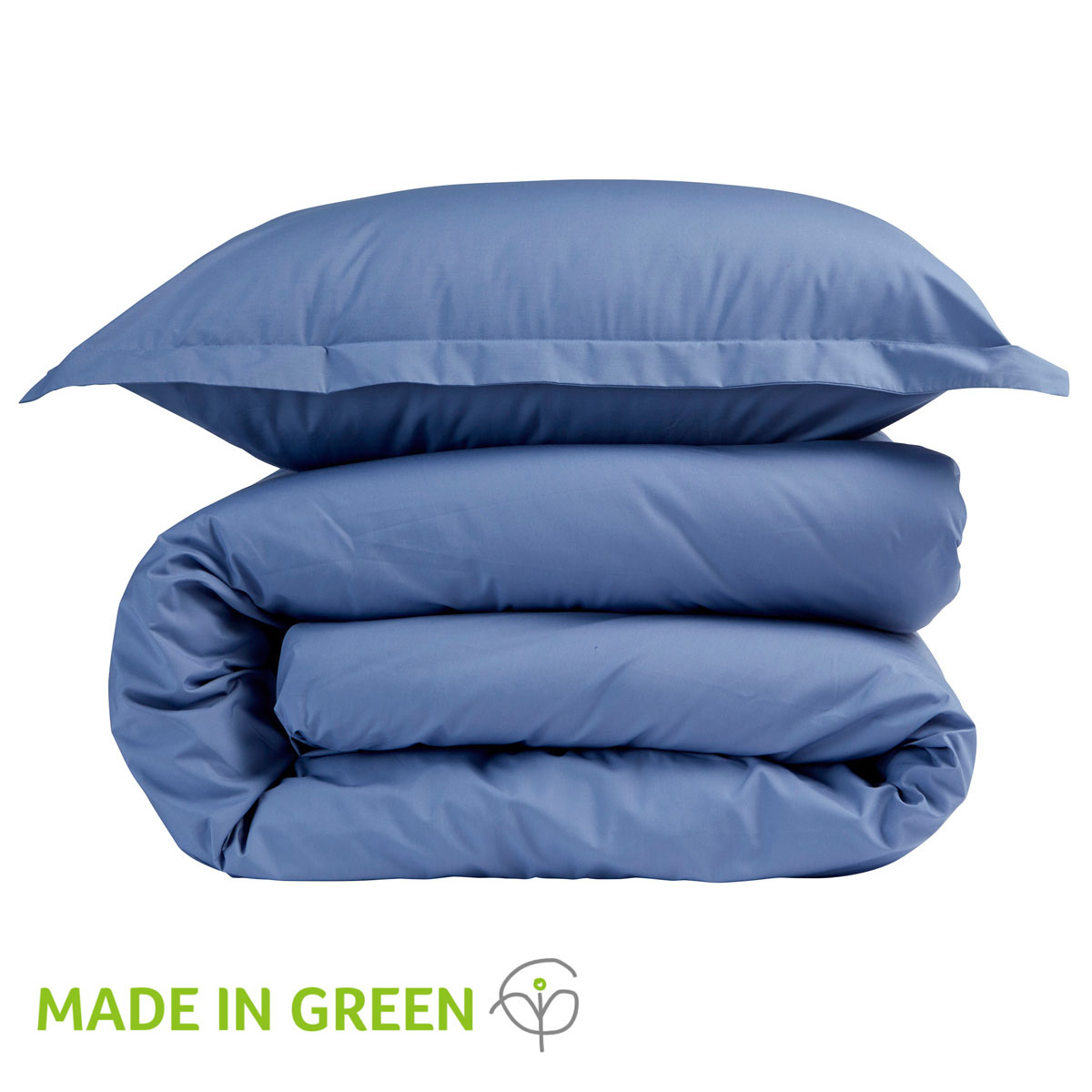 An image of 200 Easycare Double Fitted Sheet Denim
