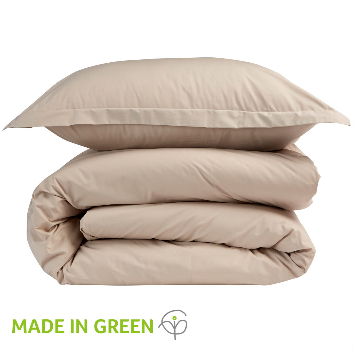 An image of 200 Easycare Double Fitted Sheet Stone