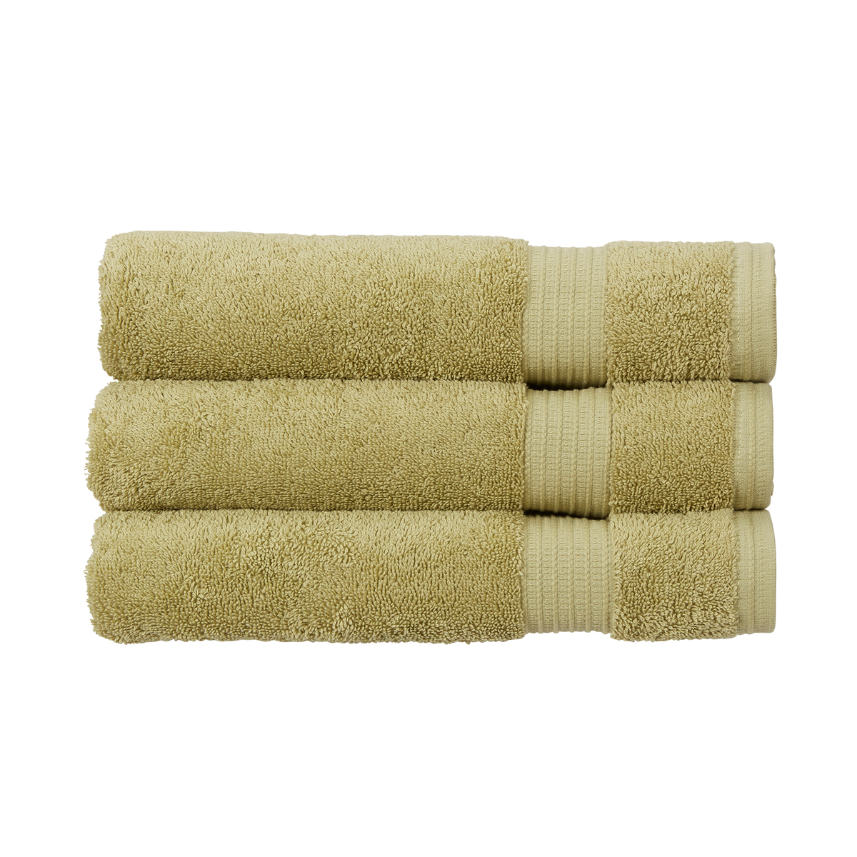 An image of Luxury Cotton Sanctuary Face Cloth in Bamboo (Green) by Christy