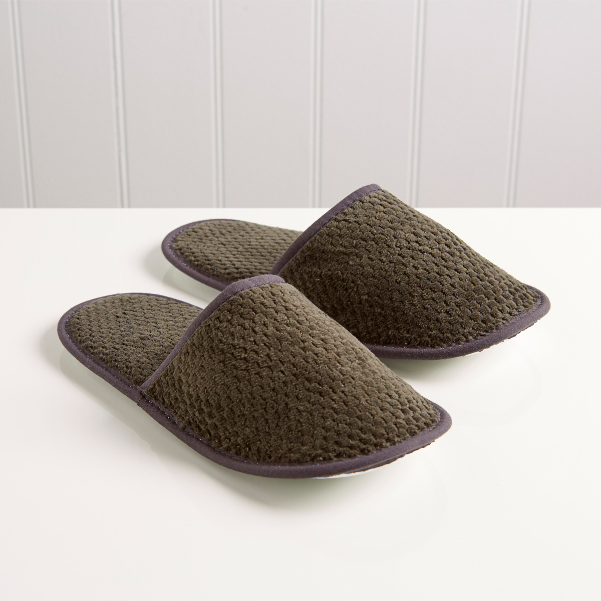 An image of Brixton Slippers Liquorice