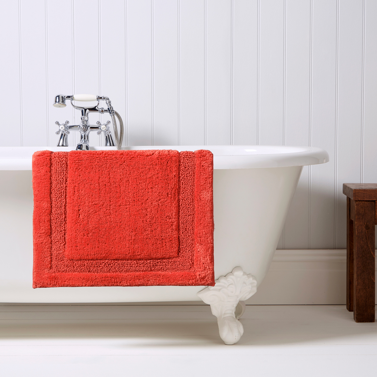 Christy Camden Bath Rug Coral Christy