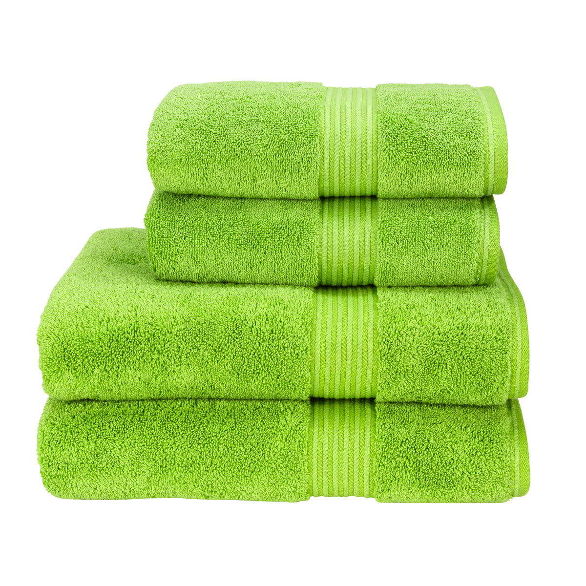 Christy Supreme Hygro Country Garden Green Towels Christy