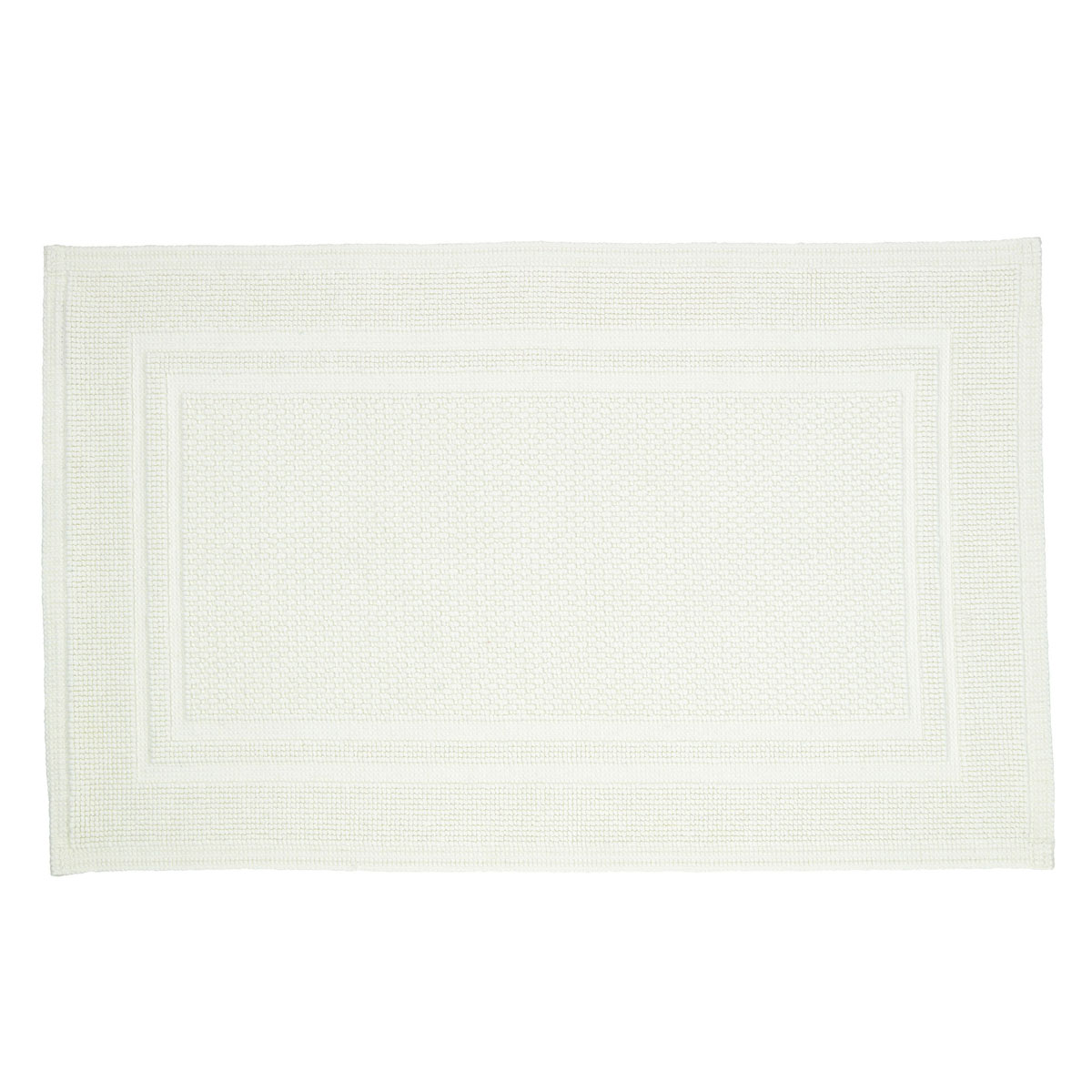 An image of Luxury Fina Bath Mat in Opal (White/Cream) by Christy