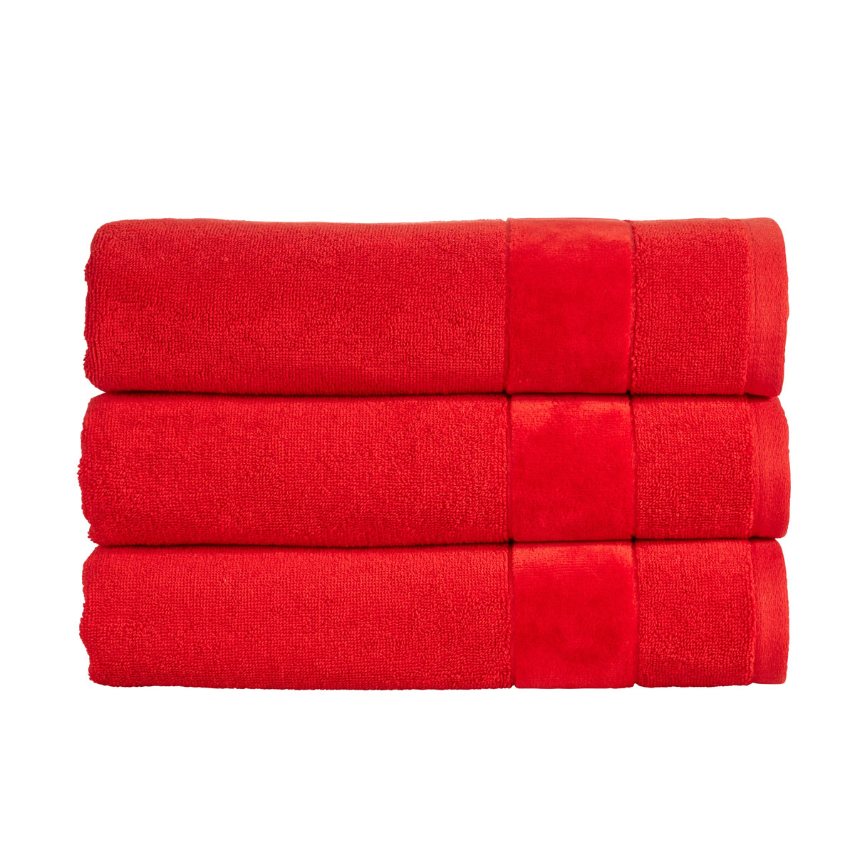 An image of Luxury Turkish Cotton Prism Face Cloth in Fire Engine (Red) by Christy