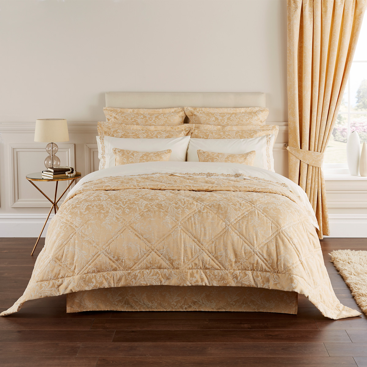 An image of Luxury Cotton Blend Palermo Oxford Pillowcase Pair in Rich Gold by Christy