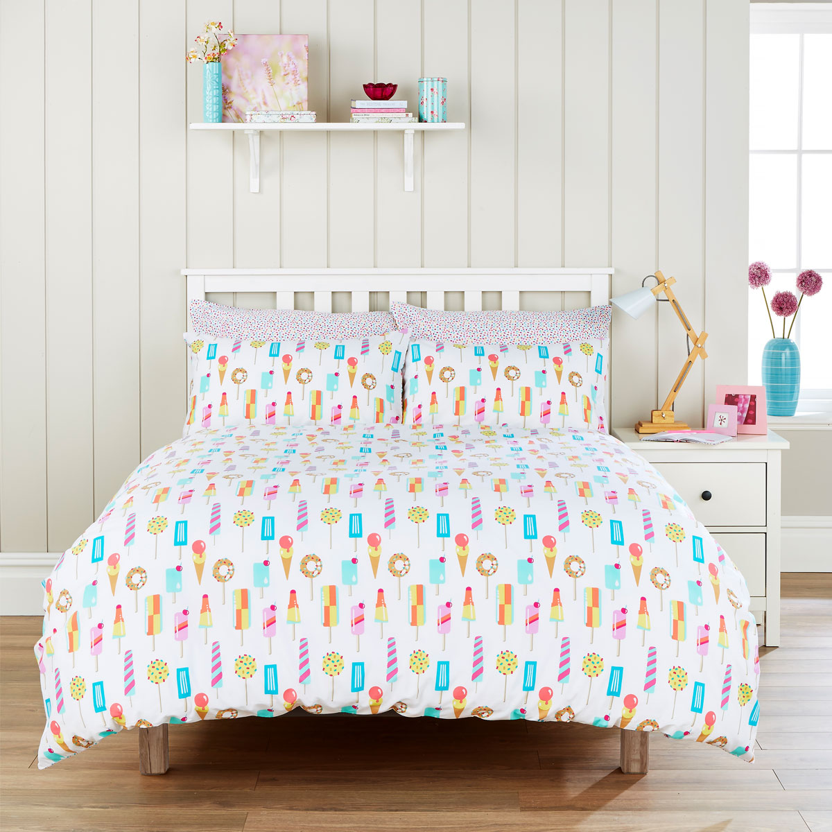 An image of Luxury Ice Lollies Double Duvet Set in Multicoloured by Christy