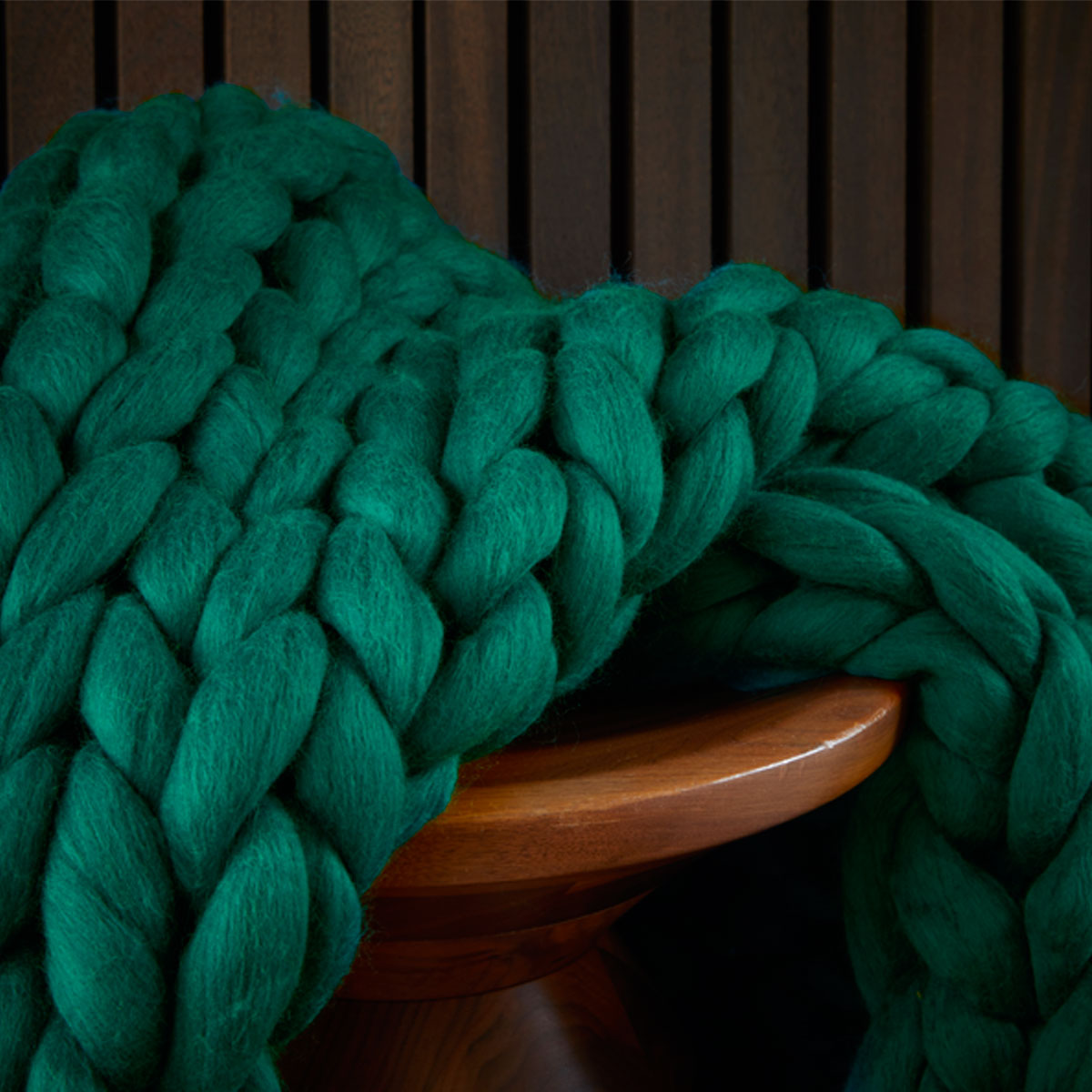 Christy Chunky Knit Throw Dark Teal Christy