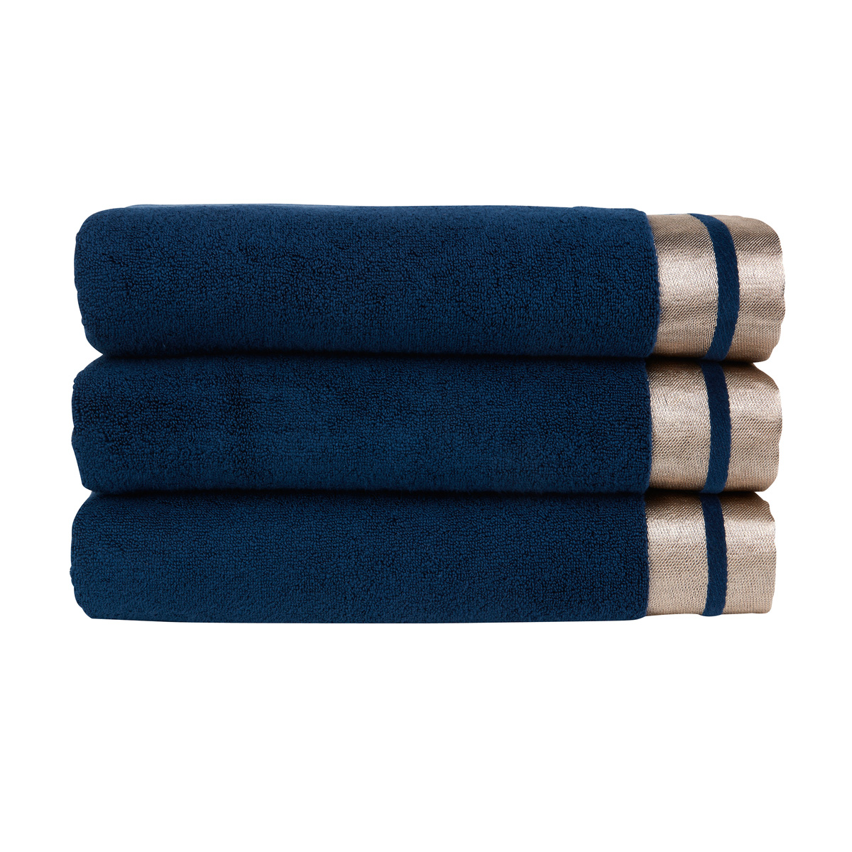 An image of Luxury Cotton Mode Hand Towel in Ink (Blue) by Christy