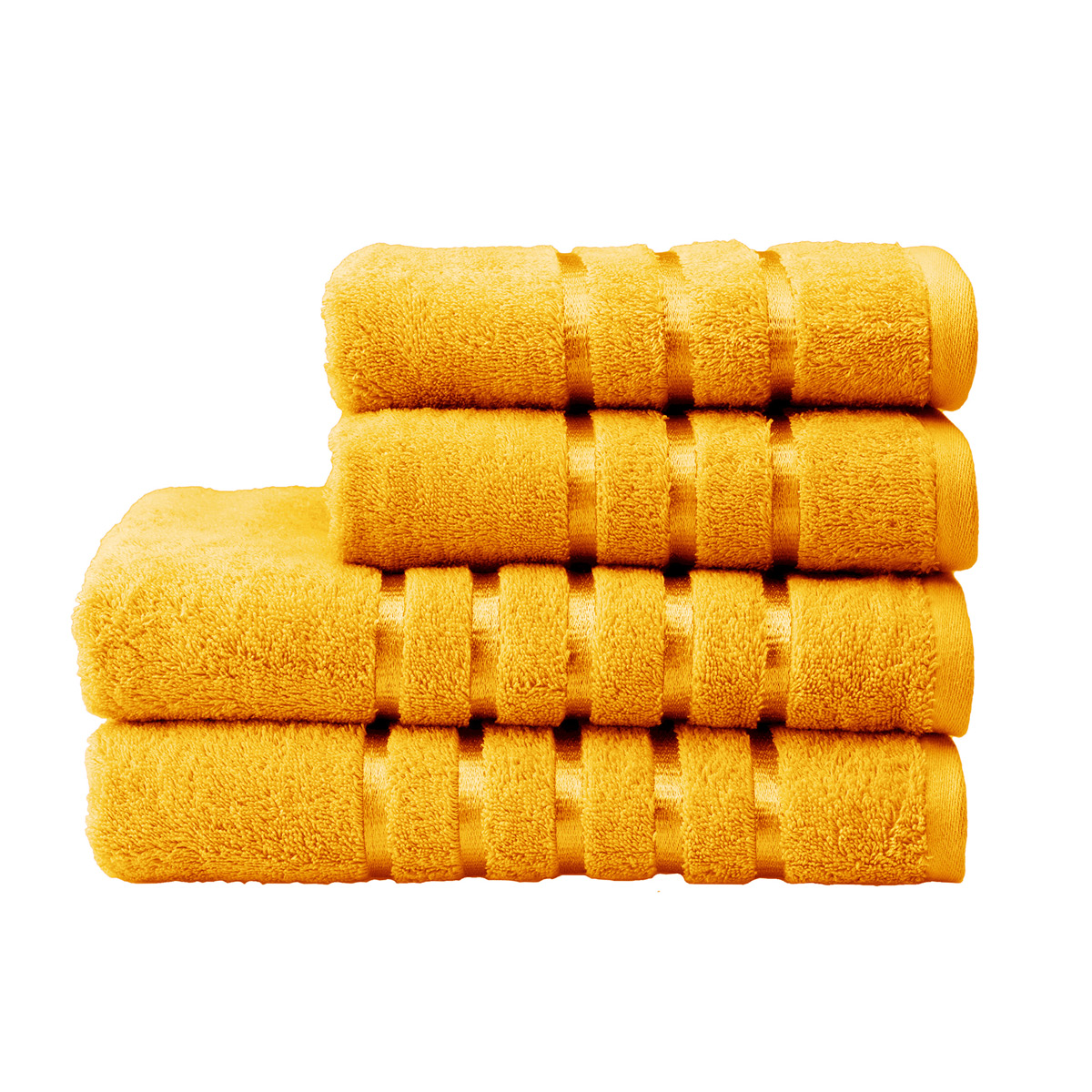 An image of Luxury Lifestyle Kingsley Face Cloth in Mustard (Yellow) by Christy
