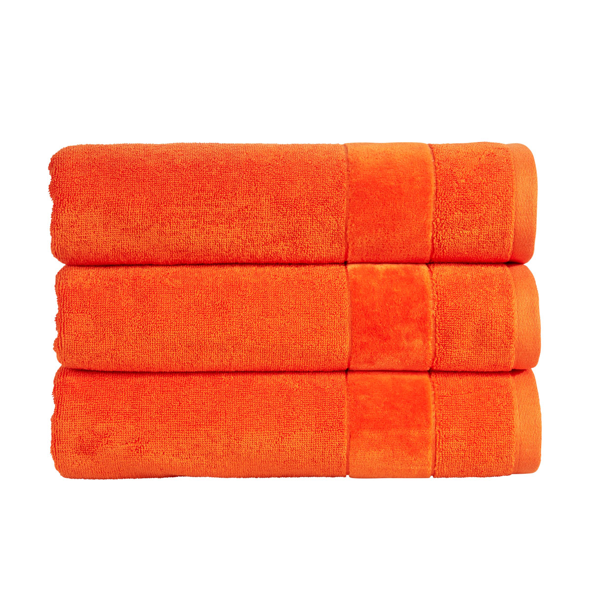 An image of Luxury Turkish Cotton Prism Face Cloth in Orangeade by Christy