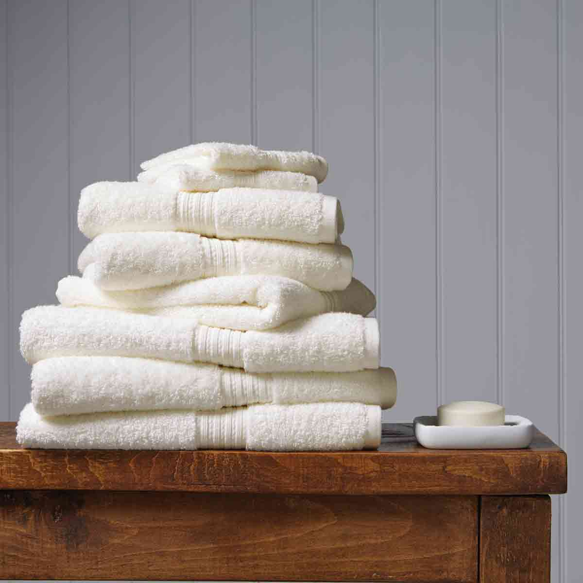 An image of Luxury Egyptian Cotton Plush Face Cloth in Cream by Christy