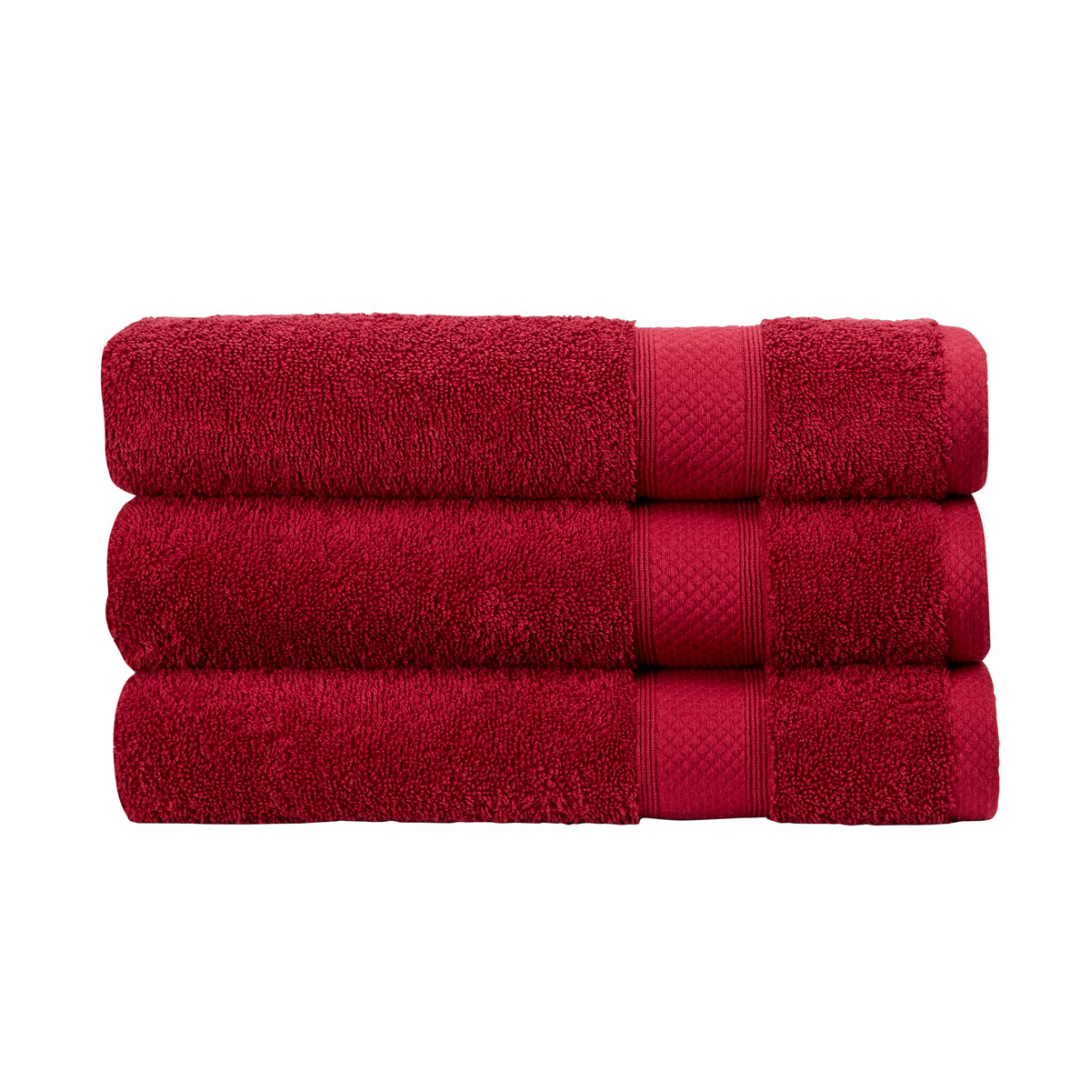 An image of Luxury Cotton Rialto Face Cloth in Wine (Red) by Christy