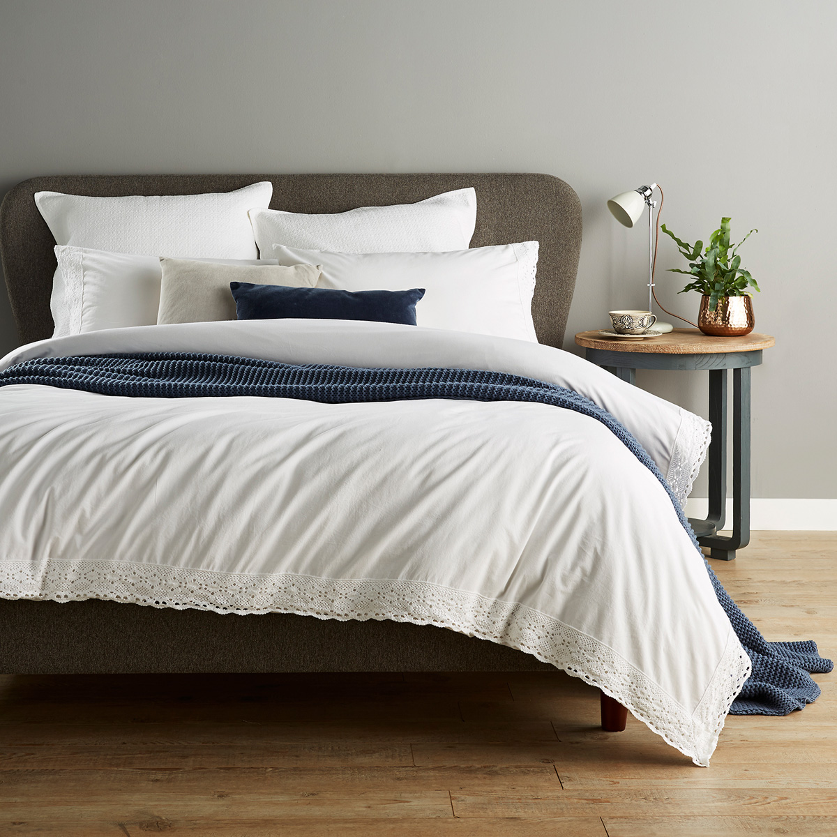 An image of Luxury Rustica Single Duvet Set in White by Christy