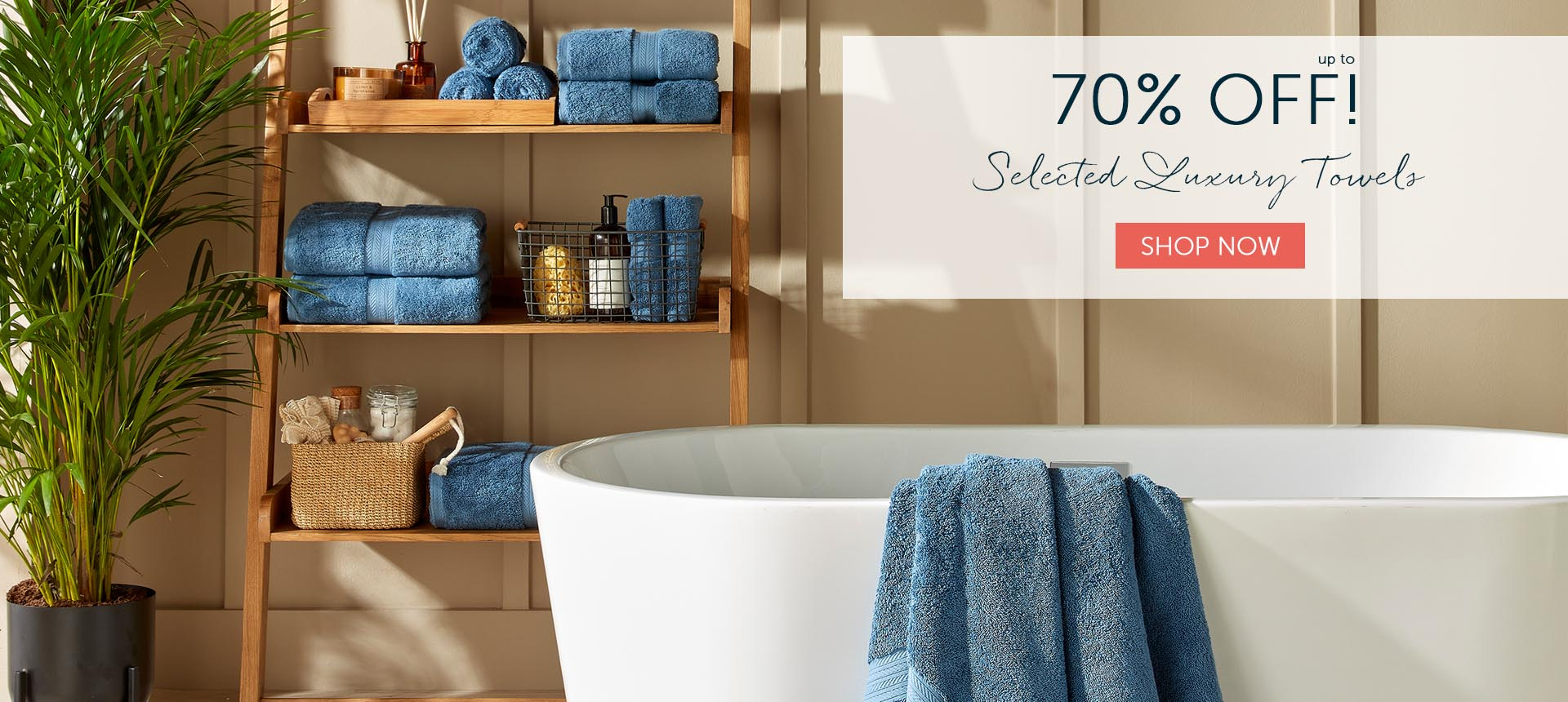 Up to 70% off Christy England towels