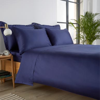 400TC Bed Linen In Navy