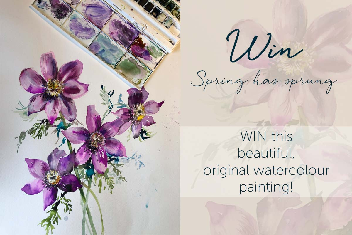 WIN an original watercolour painting